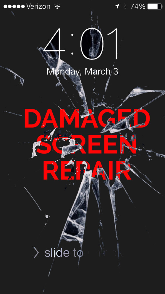 broken screen repair